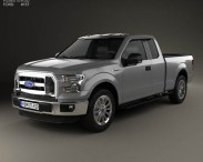 3D model of Ford F-150 Super Cab XL 2014