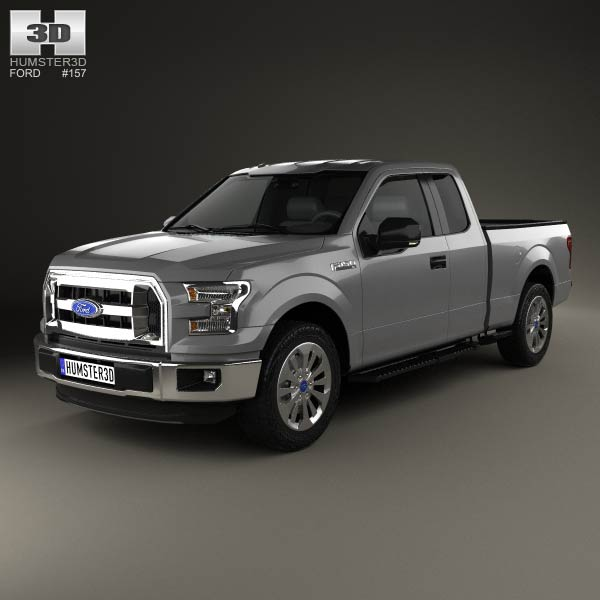ford f 150 super cab xlt 2014 3d model humster3d. Black Bedroom Furniture Sets. Home Design Ideas