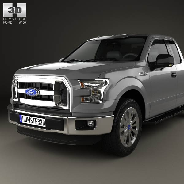 ford f 150 super cab xl 2014 3d model humster3d. Black Bedroom Furniture Sets. Home Design Ideas