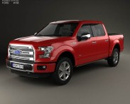 3D model of Ford F-150 Super Crew Cab Platinum 2014