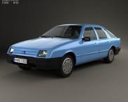 3D model of Ford Sierra hatchback 5-door 1984