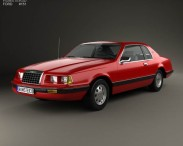3D model of Ford Thunderbird 1983