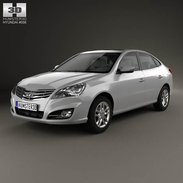 3D model of Hyundai Elantra Yue Dong 2011