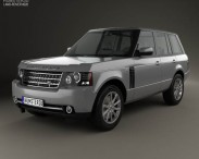 3D model of Land Rover Range Rover Supercharged 2009