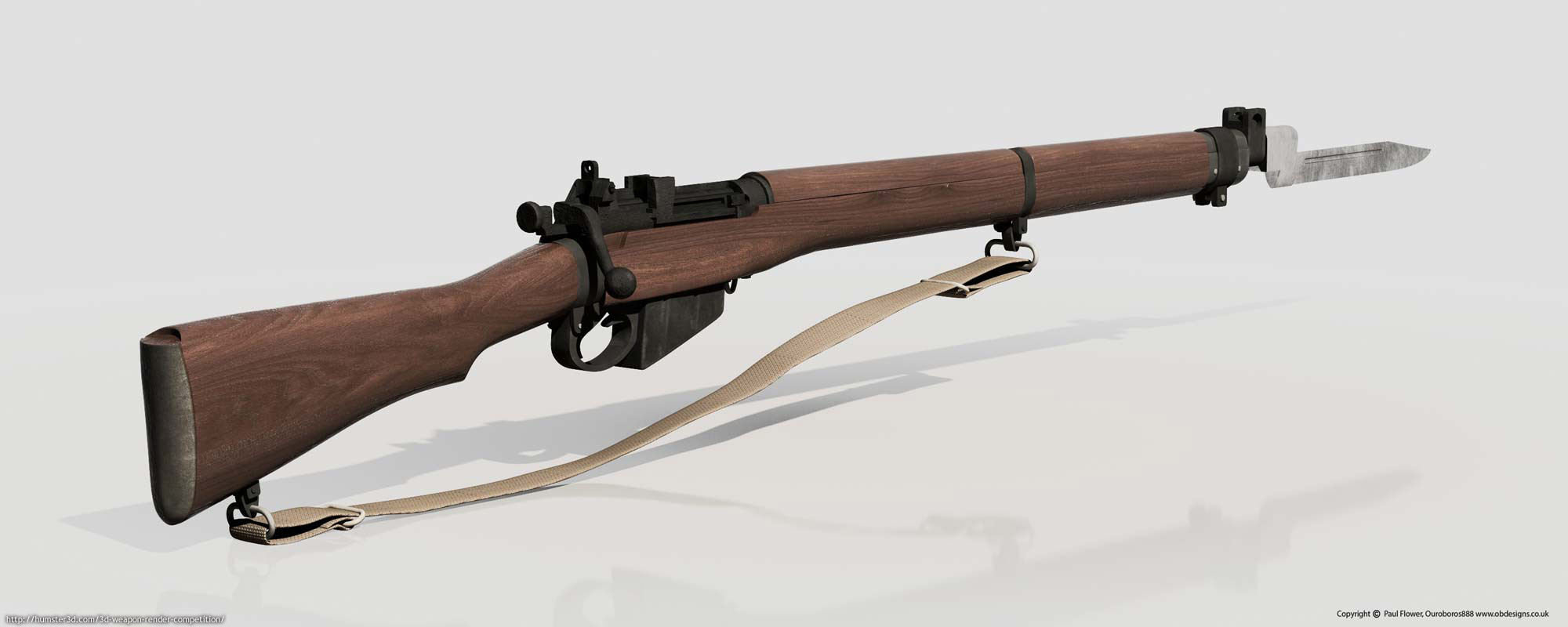 Military Discount Used Cars Lee Enfield Rifle - Paul Flower - 3D weapon competition - Humster3D