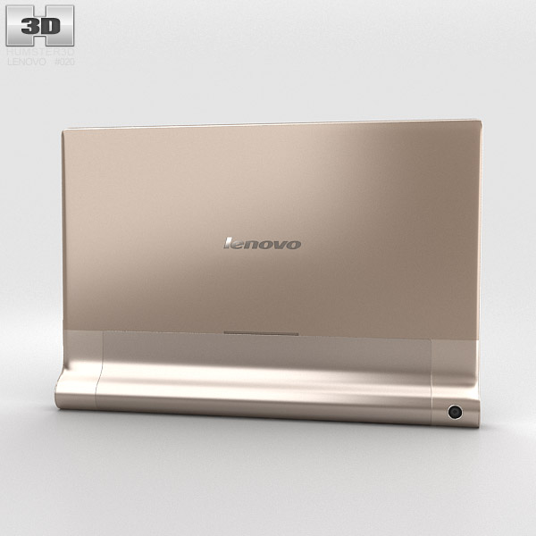 3d model of lenovo yoga tablet 10 hd+ chagne gold