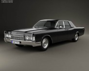 3D model of Lincoln Continental sedan 1968