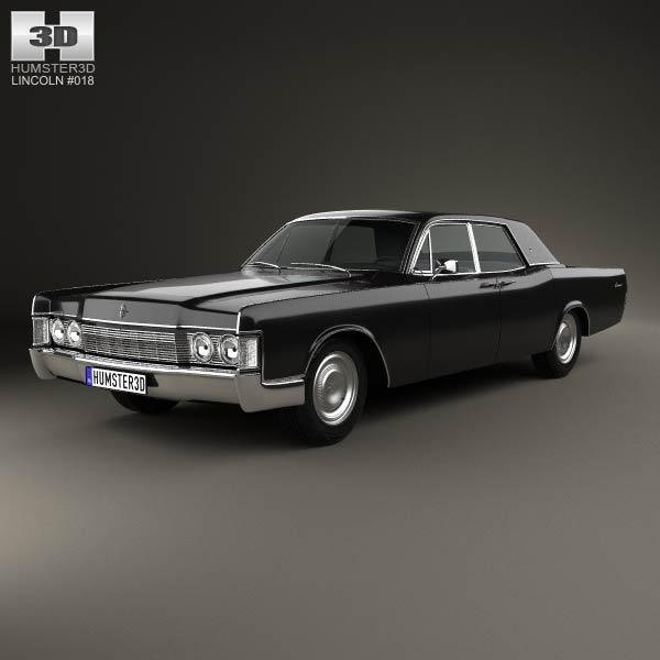 lincoln continental sedan 1968 3d model humster3d. Black Bedroom Furniture Sets. Home Design Ideas