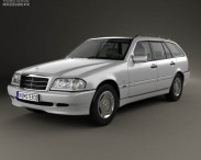 3D model of Mercedes-Benz C-Class (S202) estate 1997