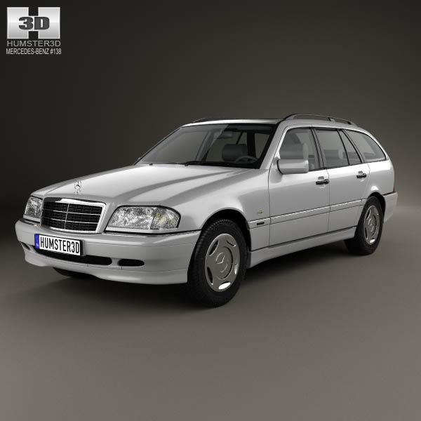 Mercedes benz c class s202 estate 1997 3d model humster3d for Mercedes benz c class models