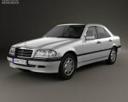 3D model of Mercedes-Benz C-Class (W202) sedan 1997