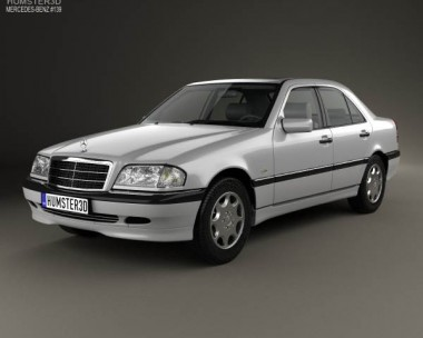 3D model of Mercedes-Benz C-Class (W202) sedan 1997