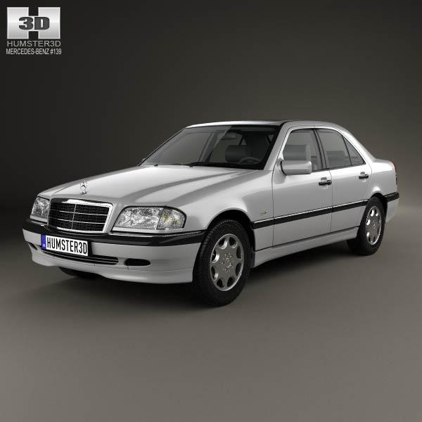 Discount Mercedes Parts >> Mercedes-Benz C-Class (W202) sedan 1997 3D model - Humster3D