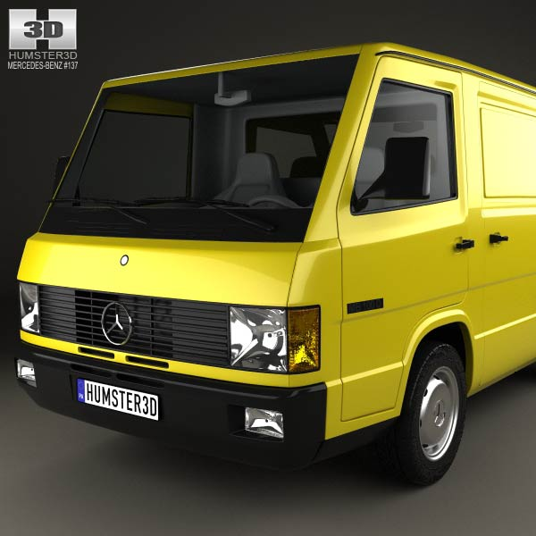 mercedes benz mb100 panel van 1988 3d model humster3d. Black Bedroom Furniture Sets. Home Design Ideas