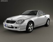 3D model of Mercedes-Benz SLK-Class 2000