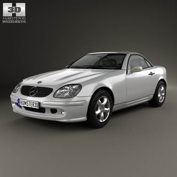 mercedes benz slk class 2000 3d model humster3d