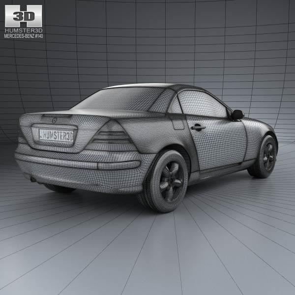 Mercedes benz slk class 2000 3d model humster3d for Mercedes benz 2000 models