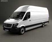 3D model of Mercedes-Benz Sprinter Panel Van ELWB SHR 2013