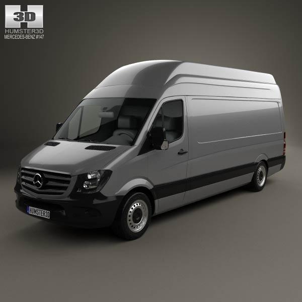 Mercedes benz sprinter panel van lwb shr 2013 3d model for Mercedes benz van models