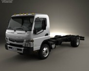 3D model of Mitsubishi Fuso Chassis Truck 2013