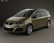 3D model of Seat Alhambra 2010