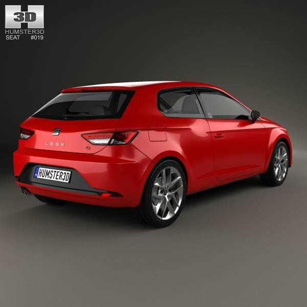 seat leon sc fr 2013 3d model humster3d. Black Bedroom Furniture Sets. Home Design Ideas