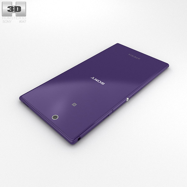 Sony Xperia Z Ultra Purple 3D model - Humster3D