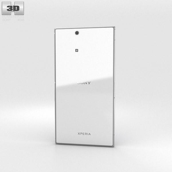3D model of Sony Xperia Z Ultra WhiteXperia Z Ultra White