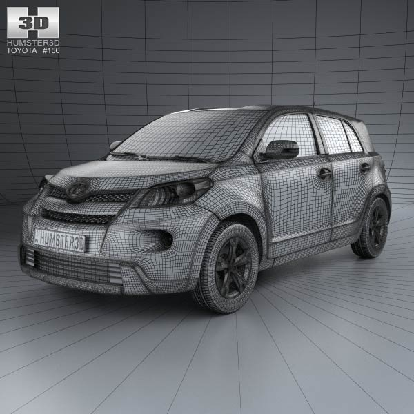 Toyota Urban Cruiser with HQ interior 2008 3d car model