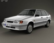 3D model of VAZ Lada Samara (2114) hatchback 5-door 1997