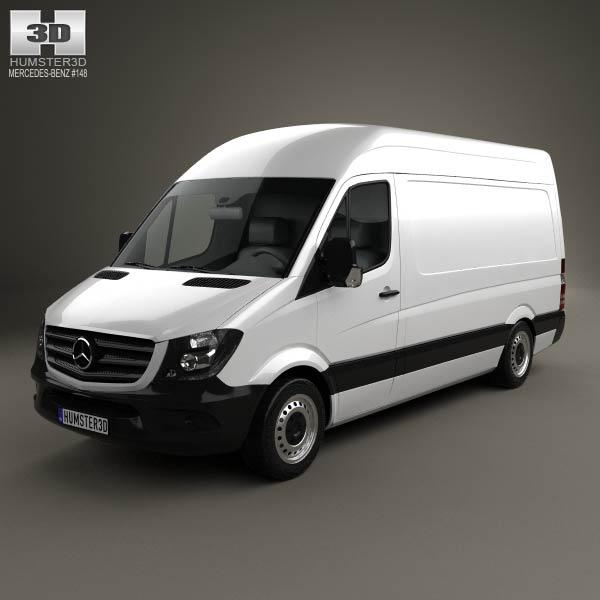 3D model of Mercedes-Benz Sprinter Panel Van SWB HR 2013