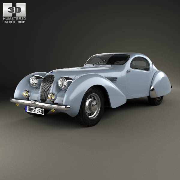 3D model of Talbot-Lago Teardrop Coupe 1938