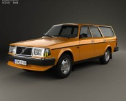 3D model of Volvo 245 wagon 1979