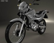 3D model of Honda NX 400i Falcon 2014