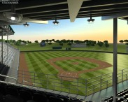 3D model of Little League Volunteer Baseball Stadium