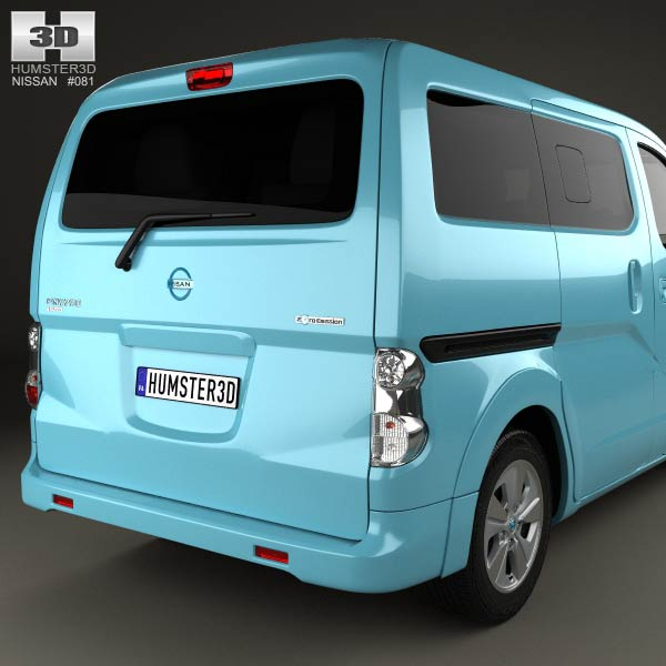 nissan e nv200 evalia 2014 3d model humster3d. Black Bedroom Furniture Sets. Home Design Ideas