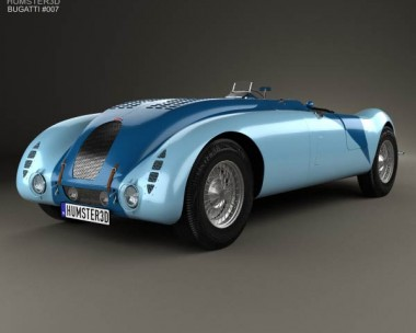 3D model of Bugatti Type 57G Tank 1936
