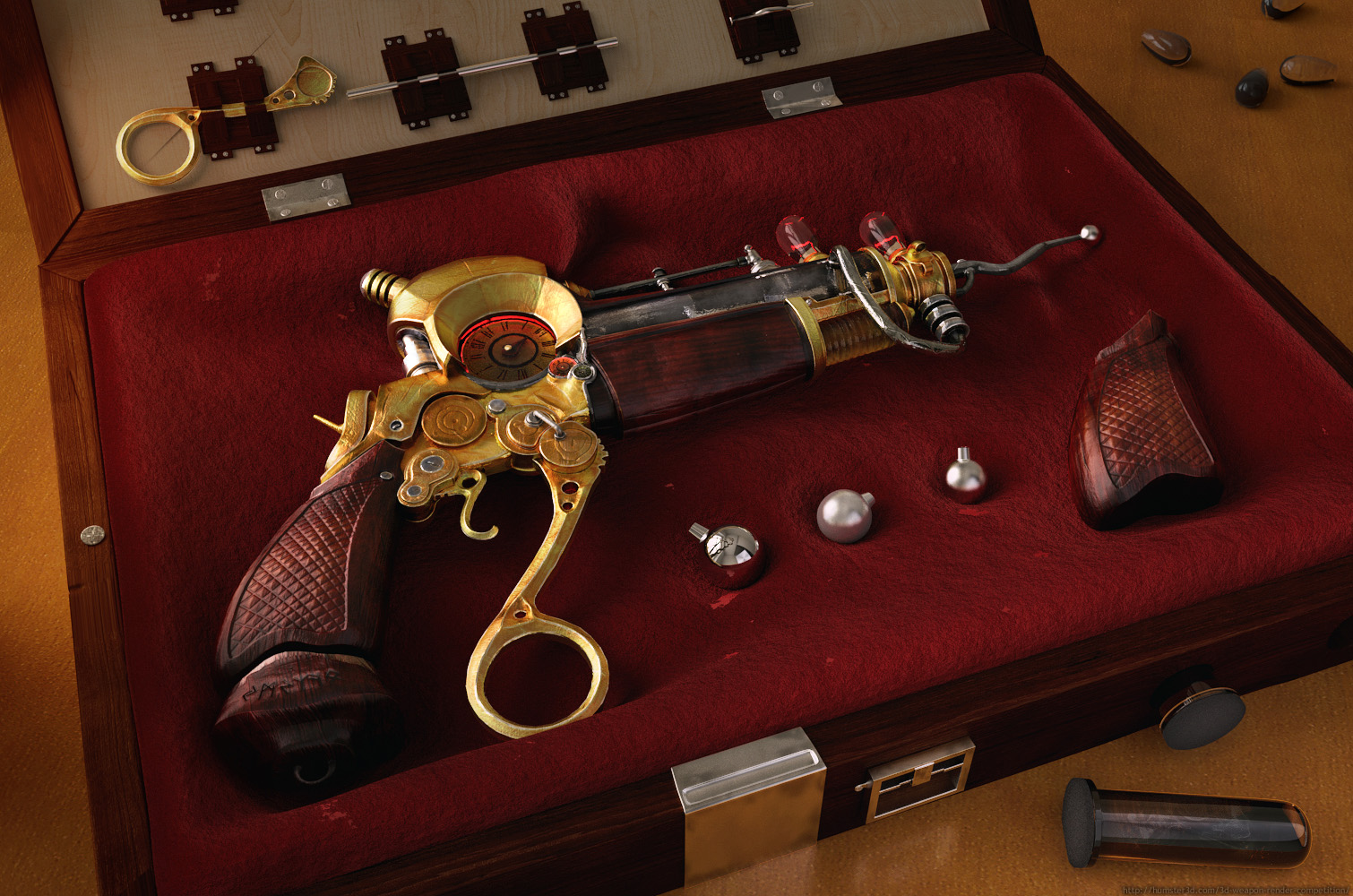 Steampunk gun - Jevgenijs - 3D weapon competition - Humster3D