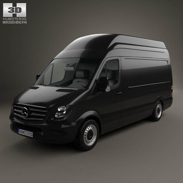 Mercedes benz sprinter panel van swb shr 2013 3d model for Mercedes benz van models