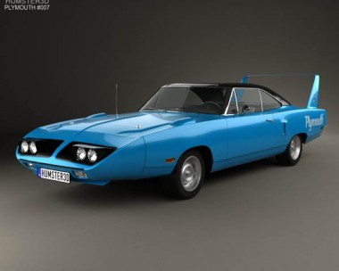 3D model of Plymouth Road Runner Superbird 1970