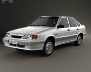 3D model of VAZ Lada Samara (2115) sedan 1997