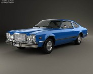 3D model of Plymouth Volare coupe 1977
