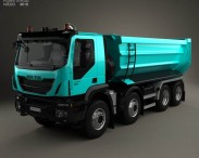 3D model of Iveco Trakker Tipper Truck 2013