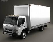 3D model of Mitsubishi Fuso Box Truck 2013