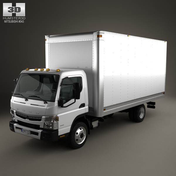 3D model of Mitsubishi Fuso Box Truck 2013