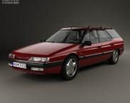 3D model of Citroen XM Break 1989
