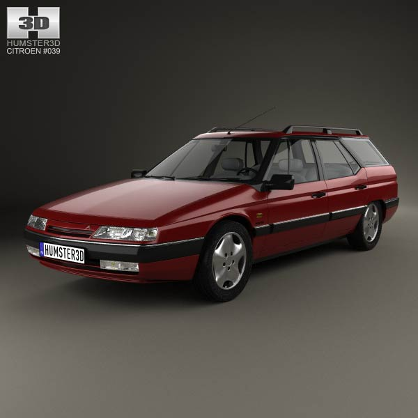 citroen xm break 1989 3d model humster3d. Black Bedroom Furniture Sets. Home Design Ideas