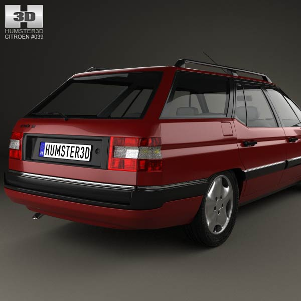Citroen XM Break 1989 3D model  Humster3D