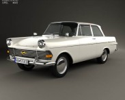 3D model of Opel Rekord (P2) 2-door sedan 1960