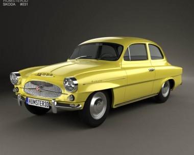 3D model of Skoda Octavia 1959